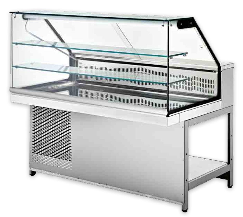 Vetrina alta con vetro dritto Image